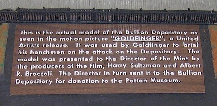 goldfinger at fort knox